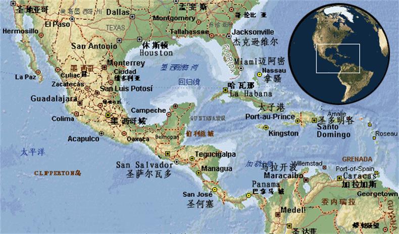 中南美航线主要国家及港口
